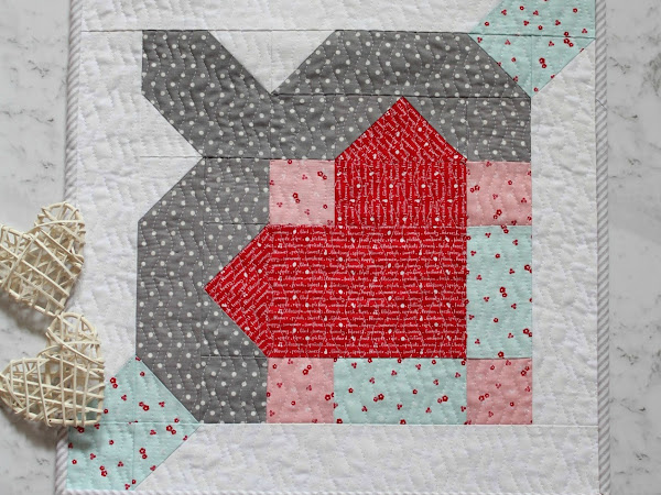 {Free Pattern} Crusader's Heart- Free Valentines Day Mini Quilt Pattern