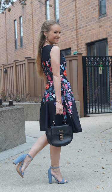 floral dress Chicago fashion
