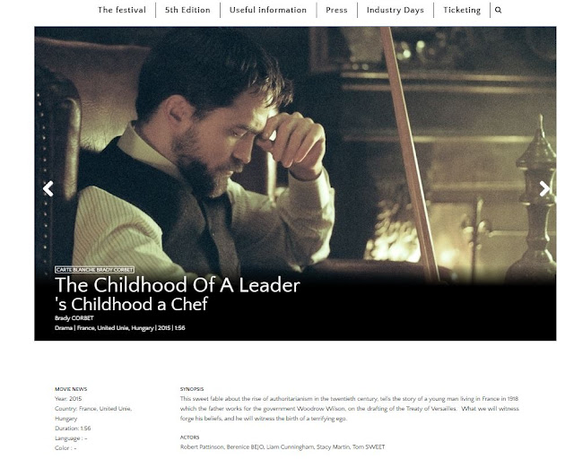 9 Mayo - #TheChildhoodofaLeader Parte de Carta Blanca de Brady Corbet en the Champs-Élysées Film Festival!!!! Champs