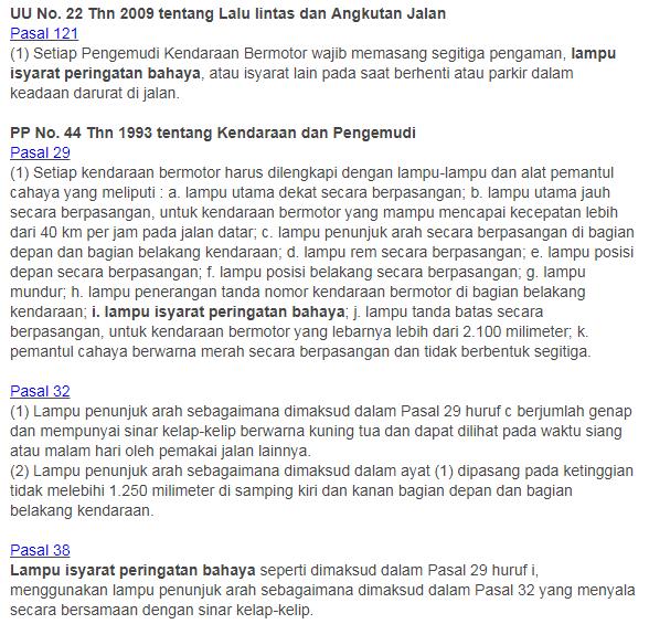 UU No. 22 Thn 2009 tentang Lalu lintas dan Angkutan Jalan