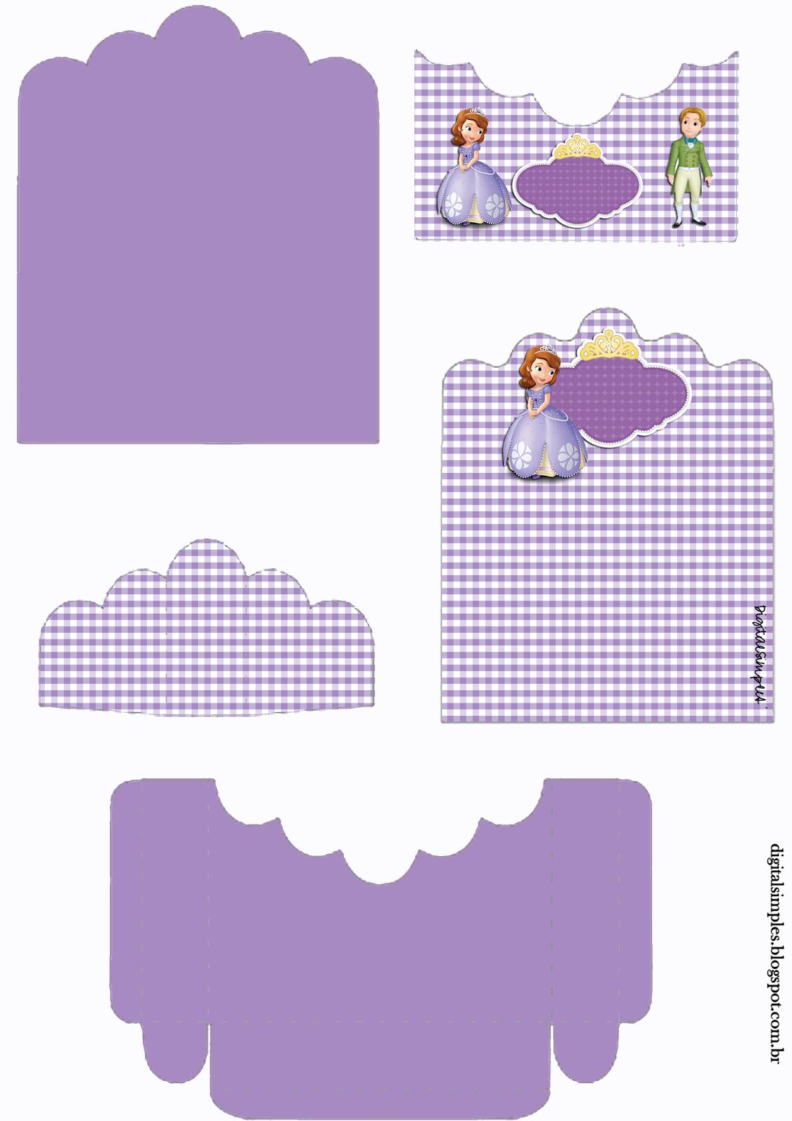 Princesa Sofía: Soporte para Golosinas para Imprimir Gratis.