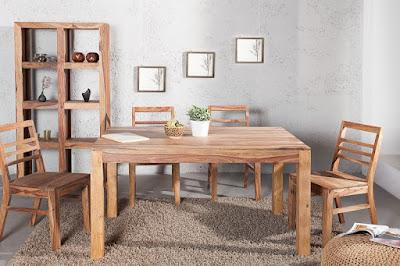 dreveny stol do jedalne v naturalnom prevedeni.
