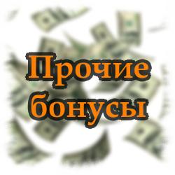 Прочие бонусы