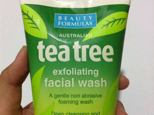 Product Review: Beauty Formulas  Tea Tree Exfoliating Facial Wash