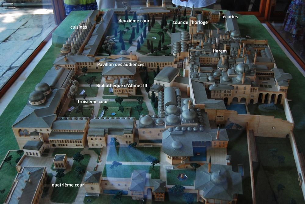 plan du palais de Topkapi