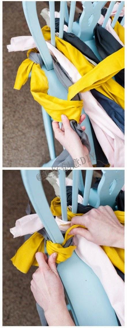 Asiento de silla trenzado Paso 5