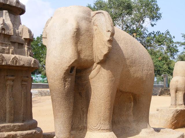 Mahabalipuram Monolithic Stone Chariots   - Monolithic Elephant