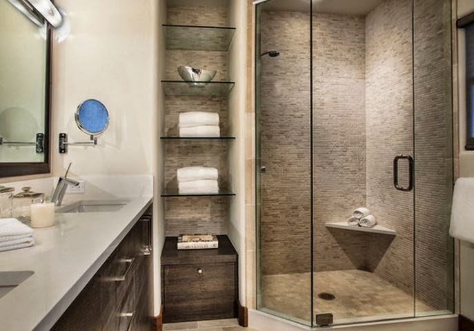 10 mod le salle de bain petit espace idee salle de bains for Model salle de bains