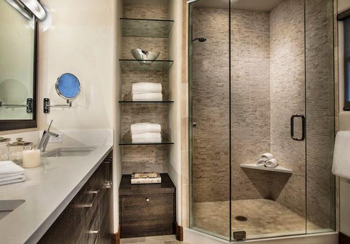 10 mod le salle de bain petit espace idee salle de bains - Model de salle de bain ...