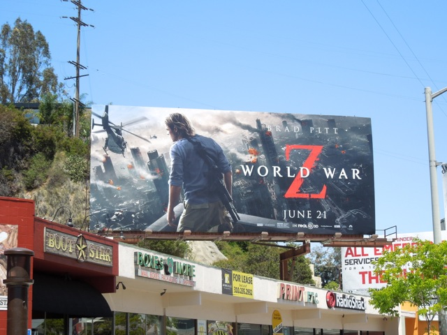 World War Z billboard