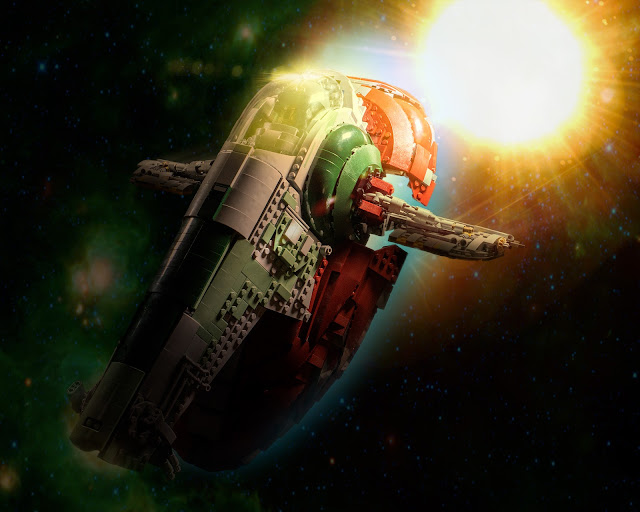 Slave 1 flying thru space.