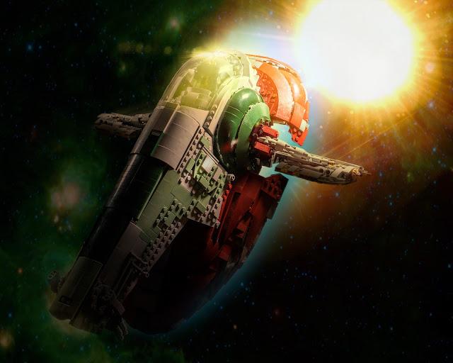 Slave 1 flying thru space.