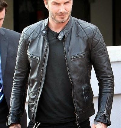 Jaket Semi Kulit David Beckham c094185653