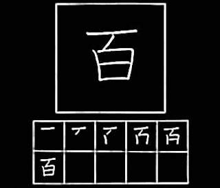 Kanji hyaku seratus