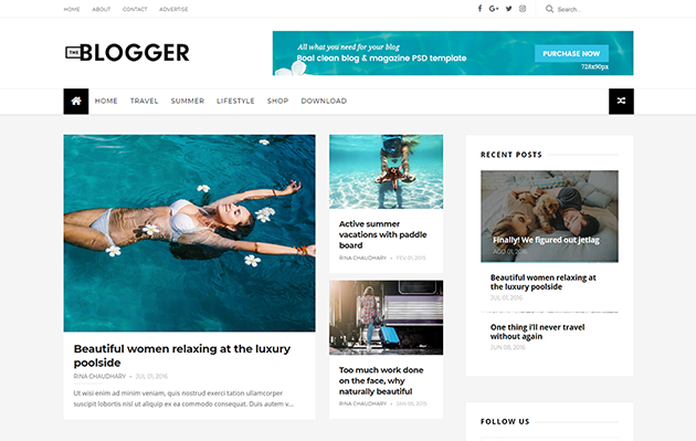 heBlogger is a created amongst to a greater extent than innovative Free Download TheBlogger Responsive Blogger Template