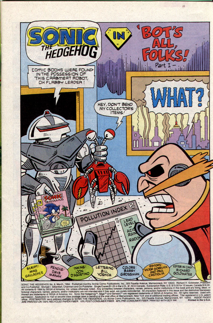 Read online Sonic The Hedgehog comic -  Issue #8 - 2