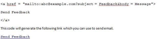 HTML Default Settings