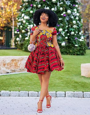 Colorful Short Gown Ankara Fashion Dress Design for Wedding
