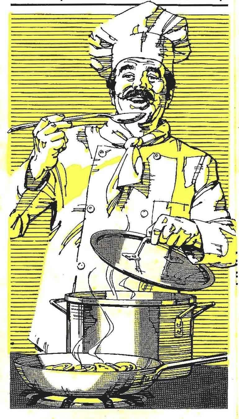 Charlie Allen illustration of a chef
