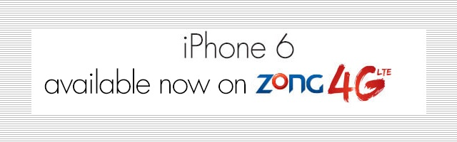 Zong iPhone 6 Price in Pakistan