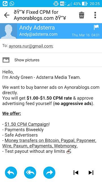 Adsterra Satu Lagi Alternatif Iklan Untuk Jana Income