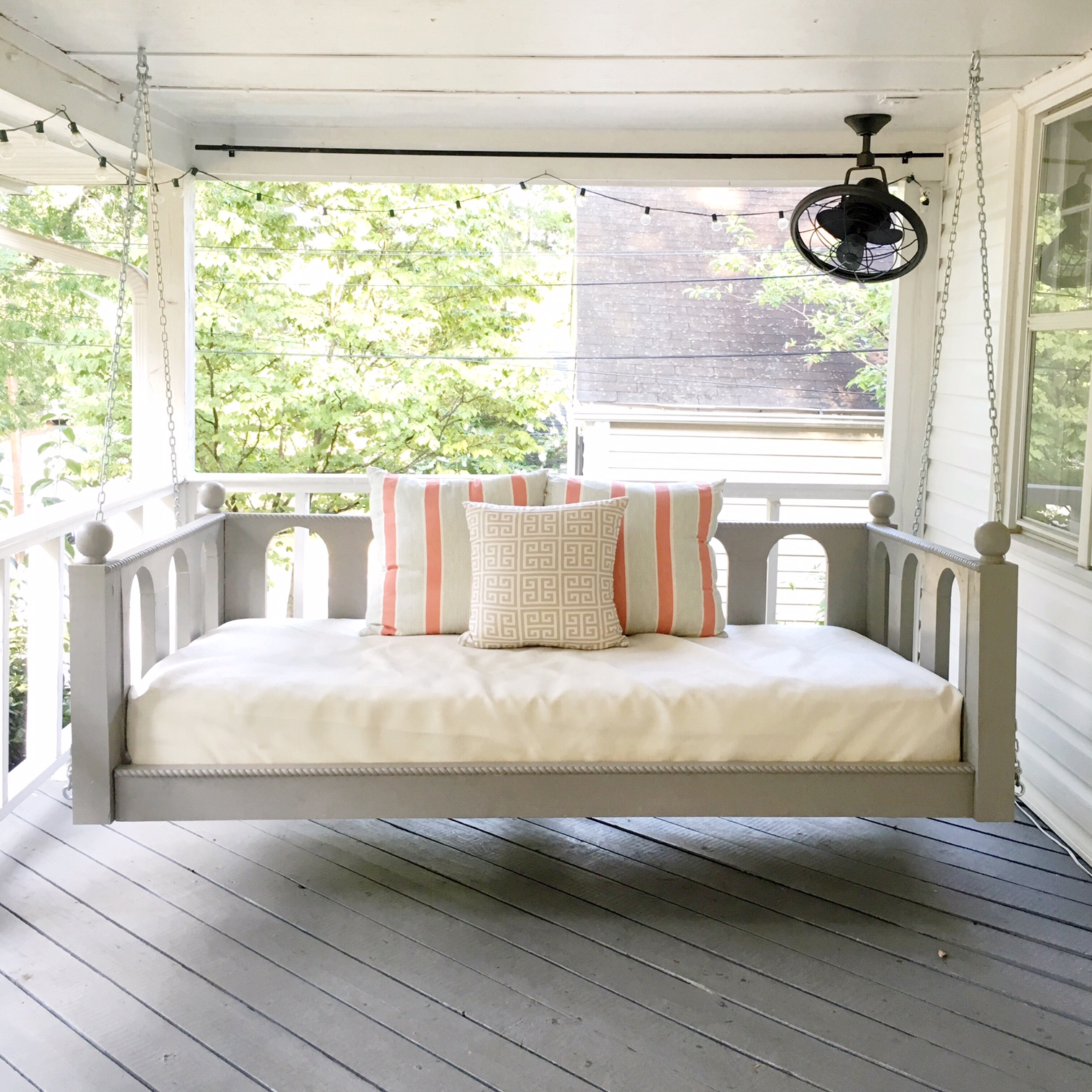 our porch bed swing is done and for sale