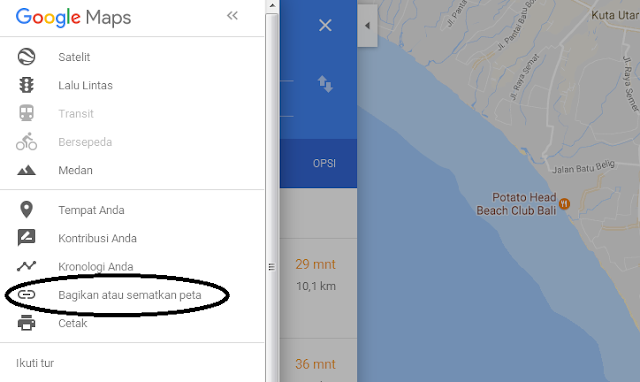 Cara Memasang Peta Google Map di Postingan Website atau Blog