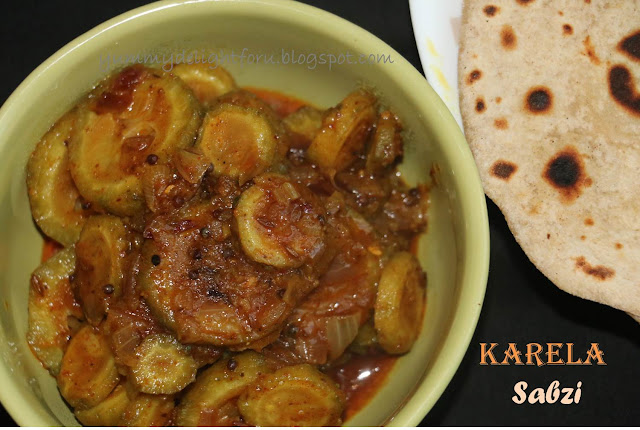Karela (Bitter gourd) Sabzi/ Maharashtrian style Karlyachi bhaji