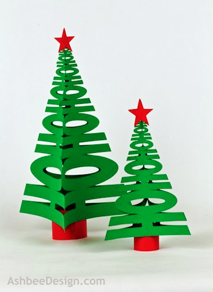 DIY to try # Paper Christmas tree - Ohoh deco