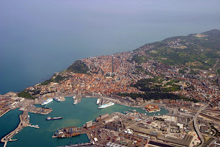 An aerial view of the Adriatic port of Ancona