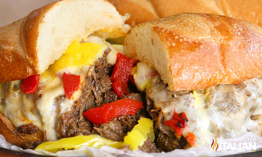 Slow Cooker Italian Beef Sandwiches #recipe #beef #crockpot @SlowCooker