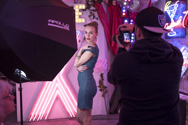 Neon photography at The Blitz Factory. Rotolight workshop with Jason Lanier