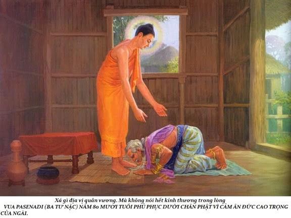 Đức Phật Thích Ca khai thị Vua Ba Tư Nặc cách phân biệt chính giác