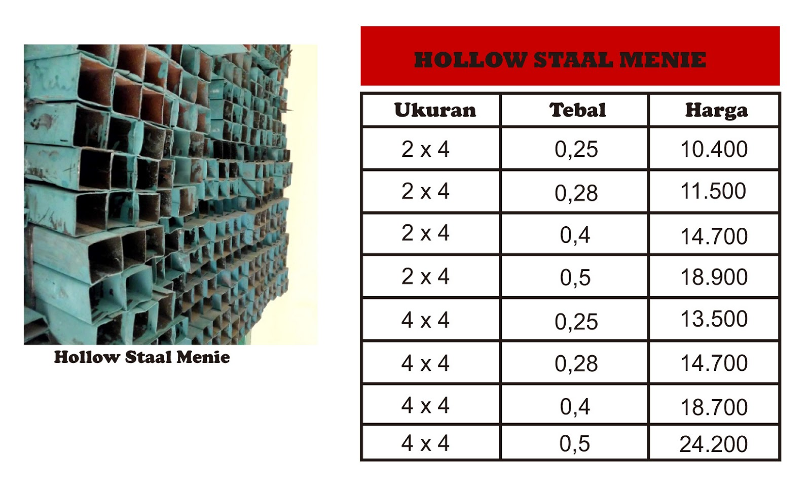 Panjang List Gypsum Jual Hollow Staal Menie And Galvanise