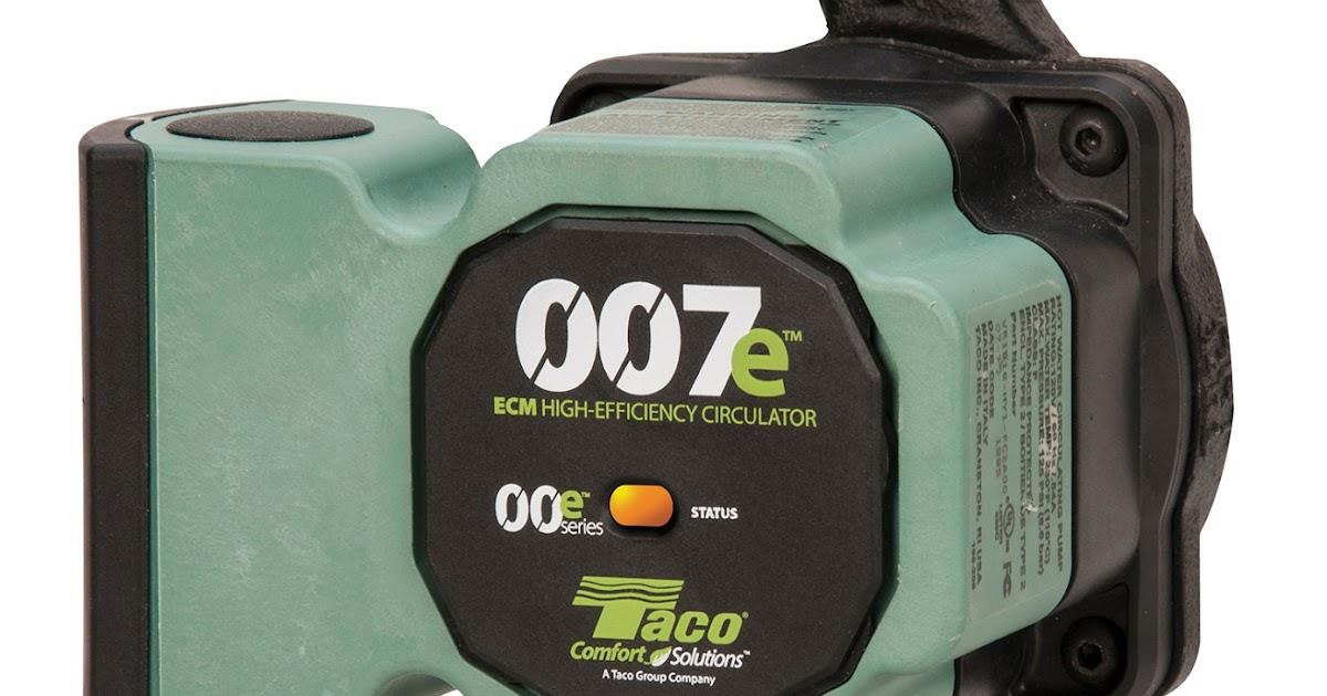 High Efficiency Air Circulator : The new taco e ecm high efficiency circulator emerson