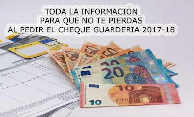 guia para la solicitud del cheque guarderia en la comunidad de Madrid