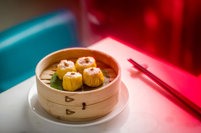 Chicken and Prawn Shumai at Yauatcha, Bangalore