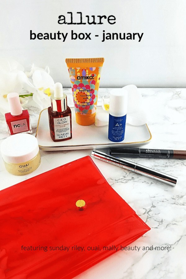 Unboxing my January Allure Beauty Box | Featuring Sunday Riley, Amika, Ouai and More