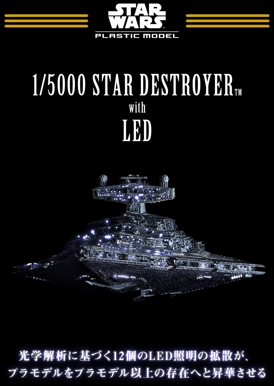 DeToyz Shop: Bandai Star Wars 1/5000 Star Destroyer kit revealed!