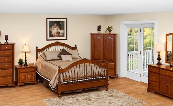 Furnitur kayu di kamar tidur terbaik