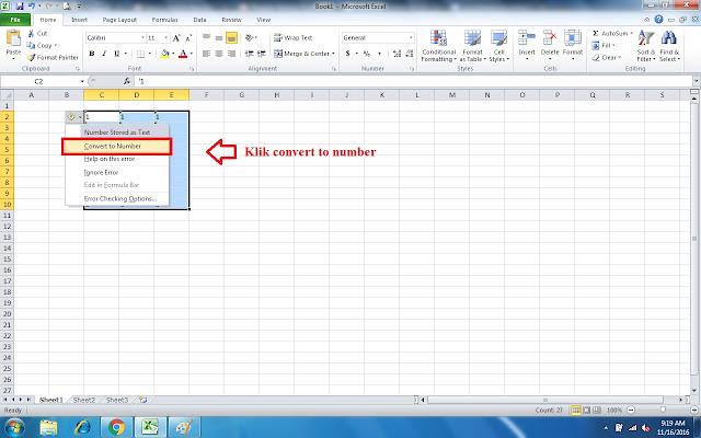 Cara Convert Text Menjadi Number di Excel, Ini Dia Caranya