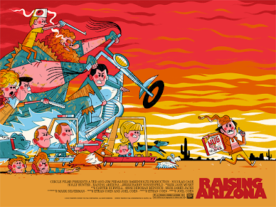 Raising Arizona Movie Poster Screen Print by Andrew Kolb x Mondo