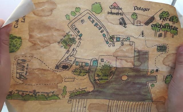 carte parchemin vieilli tresor petits 3 4 5 ans enfant indices épreuves idées maison jardin extérieur