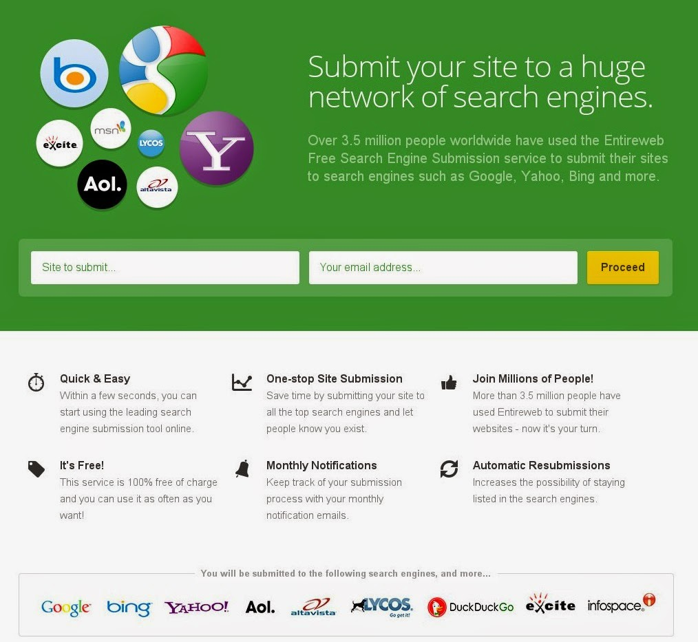 Free Search Engine Submission Get Your Business, Brand, Referral, Personal URL Listed On Google, Bi
