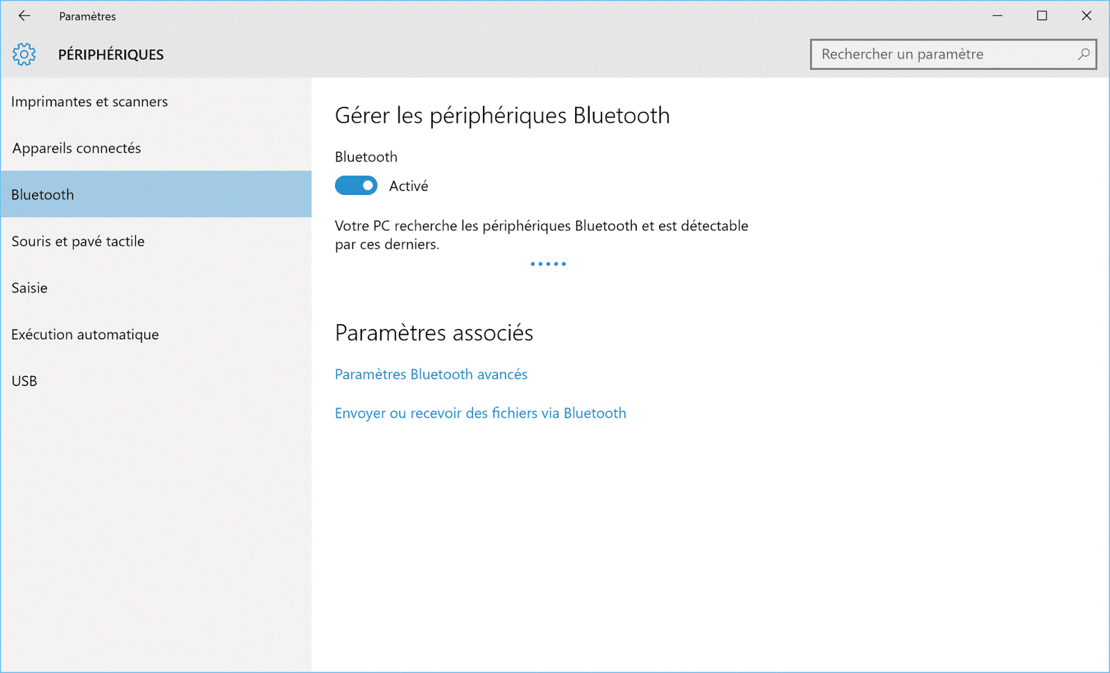 connecter un appareil bluetooth windows 1