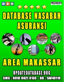 Jual Database Nasabah Asuransi Makassar