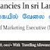Vacancies in Sri Lanka   Post Of Marketing Executive (Male)