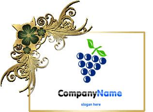 تحميل تصميم شعار عنقود عنب أسود مفتوح, Black grape cluster psd logo design download