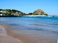 Royal Bay Mont Orgueil Castle Jersey Channel Islands