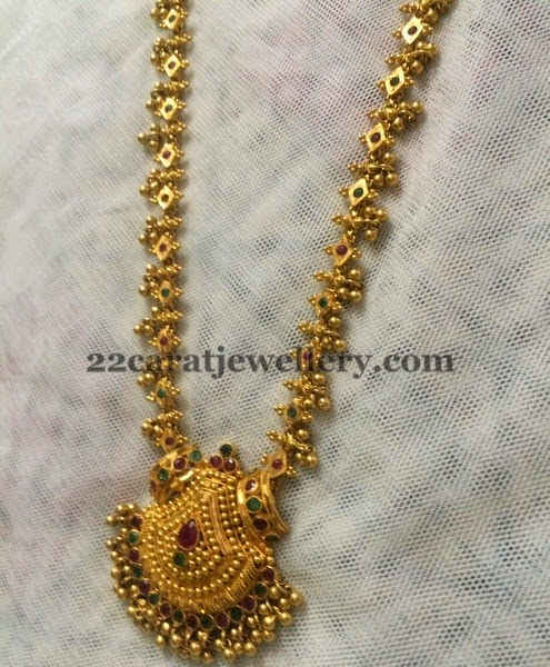 Muvvala Haram In 34 Gms Only Jewellery Designs